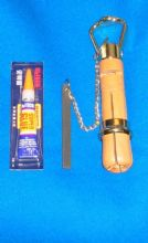 Boxwood Cue Tip clamp with instructions & superglue tip glue adhesive